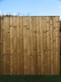 Featheredge 6' x 6' fence panel x 2