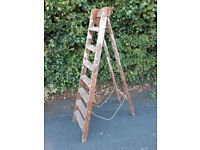 Vintage Wooden Step Ladder with fantastic old paint patina.