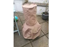 Chimenea fire pit with cover