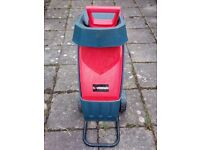 SOVEREIGN electric garden SHREDDER, CHIPPER, MULCHER, 2400W with 50 litre capacity collection bag