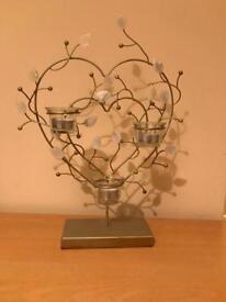 Next silver 3 candle heart 3 tea light holder