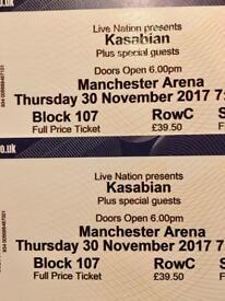 Kasabian Tickets x 2