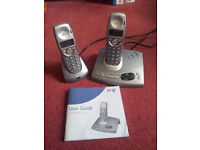 BT Diverse 6150 - cordless phone - answering system with caller ID - 2 handsets