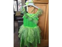Disney fairies tinkerbell dressing up costume dress age 3-4 Workington