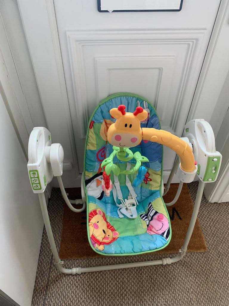 Baby swing with music from smoke and pet free home | in Beeston, West Yorkshire | Gumtree
