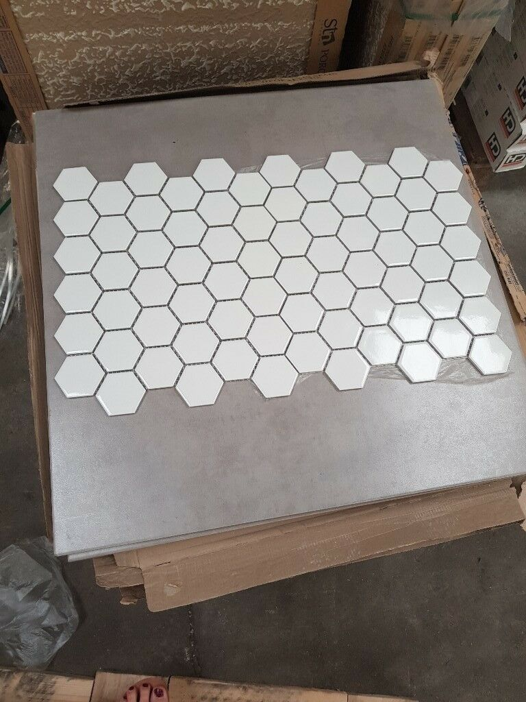 White Gloss Hexagonal Mosaic