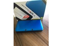Nintendo 3DS XL with 3DS games Metallic Blue - Excellent Condition