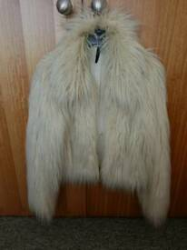 Faux Fur Fluffy Cream Jacket
