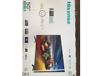 "Brand new and sealed Hisense 50"" 4K UHD Smart TV H50M3300"