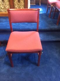 Upholstered Solid Church Chairs