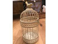 Vintage ornamental bird cage