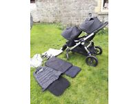 Baby Jogger City Select Double stroller Black.