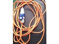 10 metre camping caravan extension mains cable lead