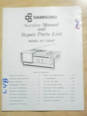 Samsung Service Manual for the BT-122AT TV Radio   mp Samsung Tv Service Manual