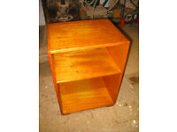 Military bedside table, night stand, side table, solid wood. 1962. Mid century. Remploy Ltd