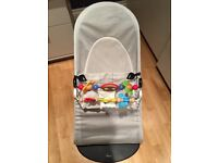 Baby Bjorn Bouncer, excellent condition, 2x toys, 2x covers, travel bag