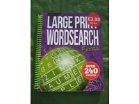 Large Print Word Search - Over 240 puzzles for £2.00