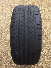 1x 245/40/19 98Y Goodyear Excellence Runflat, 7mm, Part worn