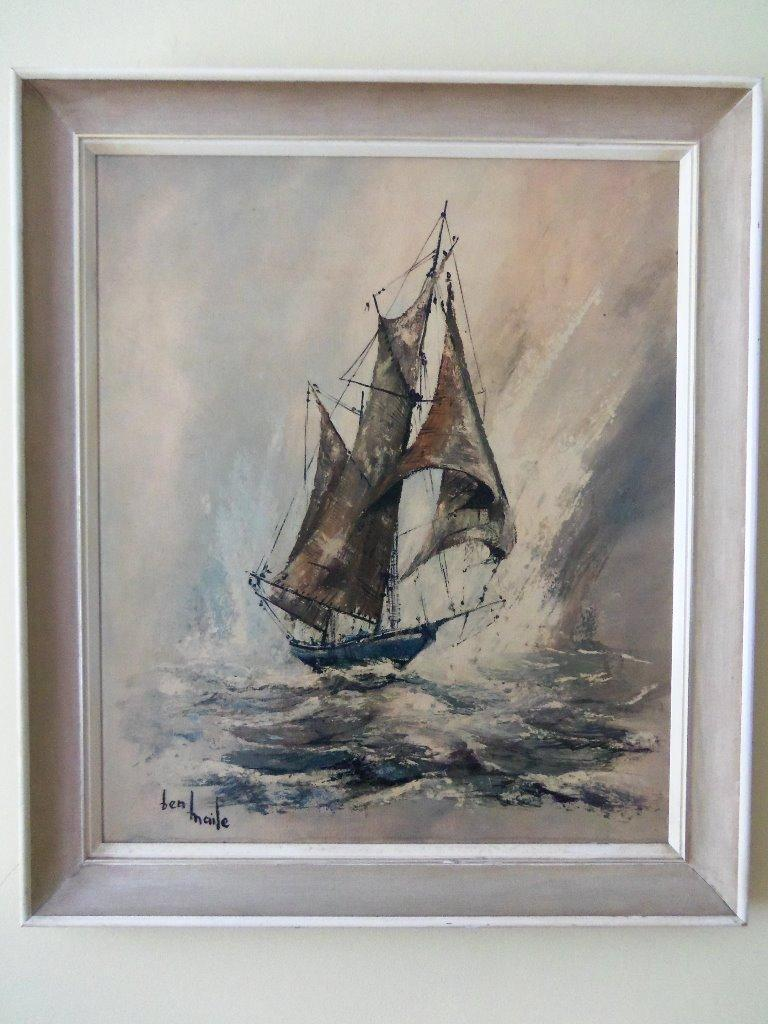 Quot The Ketch Quot Fine Art Reproduction Signed Print By Ben