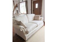 Laura Ashley Ashford 2-3 Seater Sofa, Excellent Condition, Soft Twill Herringbone Beige