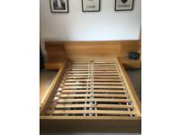Malm double bed frame