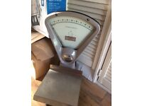Vintage shop or bakery scales.