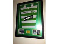 Signed and Framed Neil Lennon, Celtic shirt