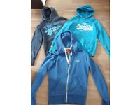 SUPERDRY 3 X HOODIES 3 X TOPS BUNDLE SIZE SMALL