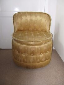 VINTAGE SHERBOURNE ROUND LOW TUB CHAIR DRESSING TABLE