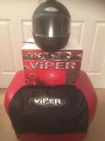 Viper RS-V335 Motorcycle Helmet. Black.