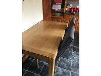 6 piece dining room table and chairs