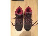Karrimor Walking Boots - Size 8 / 42 - Grey / Pink