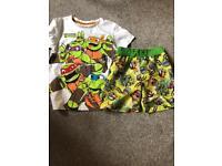 Teenage mutant ninja turtles t-shirt & swim shorts