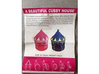 Child's princess cubby house