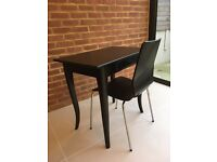 Black Writing Desk and Chair