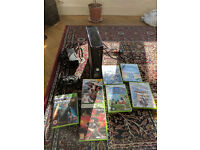 XBOX 360 + 7 Games (RPG and fight)