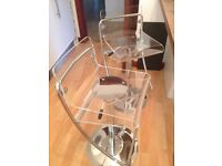 BARGAIN John Lewis' Bar Stools Chrome and Acrylic Perspex, adjustable - Collectables !