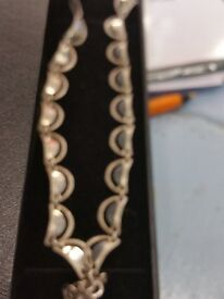 Solid silver necklace with hall marks