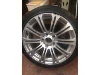 """BMW 18"""" Alloy Wheels with tyres"""