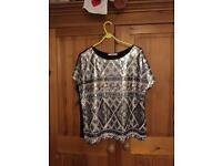 Oasis sequin top size large