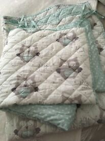 Little owl cot bed sheet