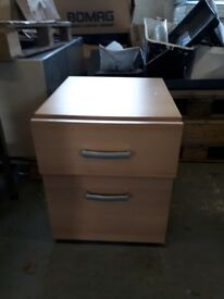 2 drawer cabinet and chair