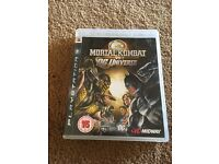 PS3 game Mortal kombat vs DG universe