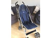 Chicco Echo Stroller. Birth to 3 years. Complete with Hood/sunshade, clear raincover and more