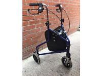 Walking aid frame folding mobility
