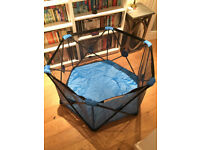 Pop Up Playpen Portable Baby Play Yard, folds into carry bag