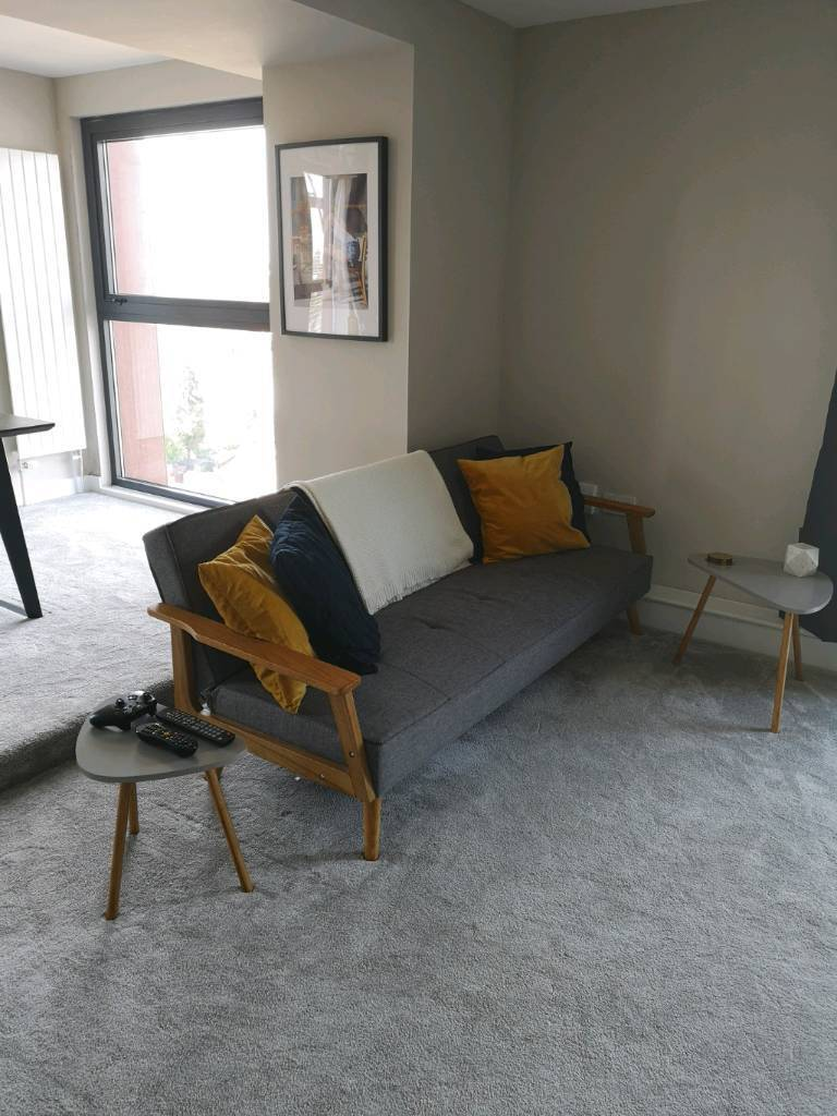 Modern Scandinavian Style Clic Clak 3 Seater Sofa Bed