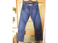 Genuine Levis 512 Bootcut W32 L34 Jeans Dark Blue *VGC* Hardly worn: no rips, cuts or worn areas