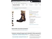 Fly London Women's Saca Black/Ocre Pull On Boots P142490000 7 UK
