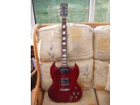 SG STYLE GUITAR-IN GOOD CONDITION-GIG BAG INCLUDED-POSTAGE MAY BE POSSIBLE